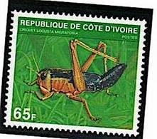 COTE D'IVOIRE Insectes, Insecte Yvert 508E Neuf Sans Charniere. MNH - Altri