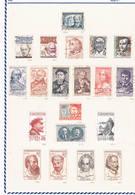 Checoslovaquia. Resto De Colección En 24 Hojas Y 461 Sellos - República Checa