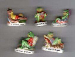 Série 5/8 Fèves Brillantes LES REINES DU TEMPS Grenouille/frog ALCARA 2000 - Animals