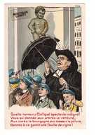 Belgique Illustration Illustrateur 1910 Manneken Pis Quelle Horreur Donnez à Ce Gamin Une Feuille De Vigne , Curé - Monuments, édifices