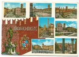 V3139 Bologna - Panorama Vedute Multipla - Stemma Cittadino / Viaggiata 1973 - Bologna