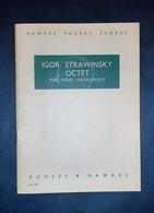 Musica Spartiti - Hawkes Pocket Scores No. 630 - I. Strwinsky - Octet - Vecchi Documenti
