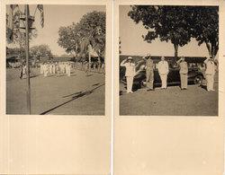 2 Cartes Photos De PHNOM PENH - Anamitesde Sibérie - Saluts Militaires   (110380) - Cambodge