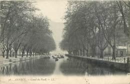 CPA 74 Haute Savoie Annecy Canal Du Vassé - LL 36 Circulé 1907 - Barques - - Annecy