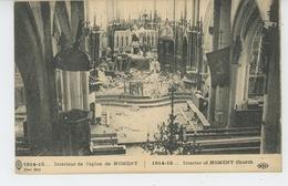 GUERRE 1914-18 - Intérieur De L'Eglise De NOMENY - Nomeny