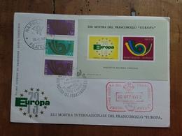 REPUBBLICA - Europa CEPT 1973 - Foglietto Ricordo Ufficiale + Spese Postali - 6. 1946-.. Repubblica