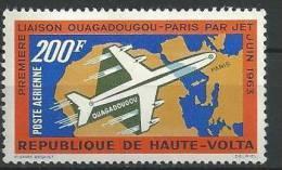"Hte-Volta Aerien YT 8 (PA) "" Liaison Ougadougou-Paris "" 1963 Neuf** - Haute-Volta (1958-1984)"
