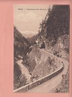 OUDE POSTKAART   ZWITSERLAND - SCHWEIZ -  DAVOS -    POSTKOETS ZUEGENSTRASSE - ED. PHOTOHALL - 1906/WIESEN - GR Grisons