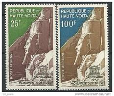 """Hte-Volta Aerien YT 12 & 13 (PA) """" Monuments De Nubie """"1964 Neuf** - Haute-Volta (1958-1984)"""