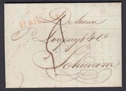 BELGIQUE 1818 De St NICOLAS Vers SCHIEDAM Pays-Bas (6G24549) DC-0904 - 1815-1830 (Période Hollandaise)