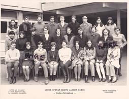 PHOTO ANCIENNE,DE CLASSE,92,HAUTS DE SEINE,LYCEE D'ETAT MIXTE ALBERT CAMUS,BOIS COLOMBES,1968-1969,RARE - Lieux