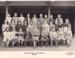 PHOTO ANCIENNE,CLASSE,92,HAUTS DE SEINE,LYCEE D'ETAT MIXTE ALBERT CAMUS,BOIS COLOMBES,1962-1963,RARE - Lieux