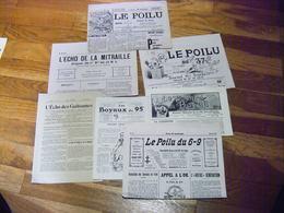 LOT 7 JOURNAUX DE TRANCHEES ECHO DE LA MITRAILLE LE POILU ECHO DES GUITOUNES .... - 1914-18