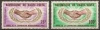 """Hte-Volta Aerien YT 23 & 24 (PA) """" Coopération """" 1965 Neuf** - Haute-Volta (1958-1984)"""