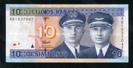 LITHUANIA 10 LITU 2001 P-65 - Lituanie