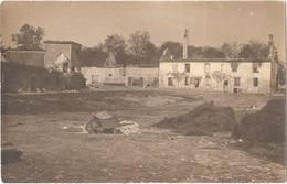 Dépt 77 - PUISIEUX - Carte-photo Ferme De POLIGNY Incendiée Par Les Allemands (1914) - Cachet GALERIES PARISIENNES Meaux - France