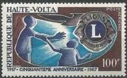 "Hte-Volta Aerien YT 34 (PA) "" Lion's International "" 1966 Neuf** - Haute-Volta (1958-1984)"