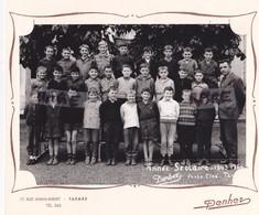 PHOTO ANCIENNE,69,RHONE,TARARE,ECOLE,CLASSE DE GARCONS,1963-1964,PROFESSEUR,RARE - Lieux