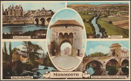 Multiview, Monmouth, Monmouthshire, C.1950 - Harvey Barton Postcard - Monmouthshire