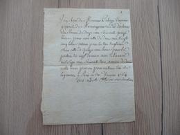 LAS Comtesse De Montauban Paris 30/01/1764 Reçu Paterne Trésorier Duc D'Orléans - Autographes
