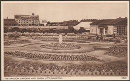 The Pavilion Gardens And Green, Littlehampton, Sussex, C.1950 - Salmon Postcard - England