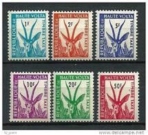 """Hte-Volta Taxe YT 21 à 26 """" Gazelle Série Complète """" 1961 Neuf** - Haute-Volta (1958-1984)"""
