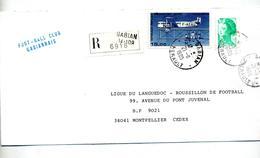 Lettre Recommandee Gabian Sur Liberté Farman - Marcophilie (Lettres)
