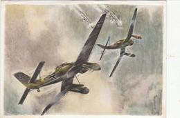 """Propaganda Karte ,  Flieger """"  Sturzbomber Beim Angriff """" - 1939-1945: 2. Weltkrieg"""