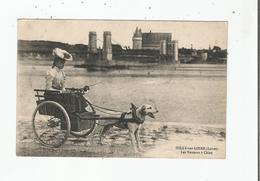 SULLY SUR LOIRE (LOIRET) LES VOITURES A CHIEN (JEUNE FEMME AU CHAPEAU BEAU PLAN)1919 - Sully Sur Loire