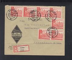 Dt. Reich R-Brief 1940 Aachen - Germania