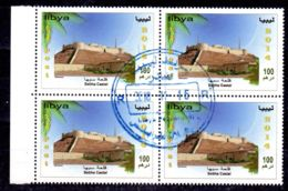 2014; Archäologische Stätten, SHEBA CASTEL - LIBYEN Im 4er Block Gestempelt, Los 50739 - Archäologie