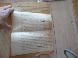 LAS Autographe Courvol F. Chevalier De Basole Et De Montas Cne Régiment Langeron Mémoire 4 P Campagne 20 Au /04/1645 - Documentos