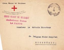 Croix Rouge De Belgique 1915 Ambulance Océan La Panne Belgian Field Hospital Hoogstade WW1 Première Guerre Mondiale - WO1