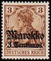 1911 - 1919. Marokko 3 Centimos 3 Pf. DEUTSCHES REICH. (Michel 46) - JF309142 - Bureau: Maroc