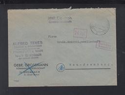 Alliierte Besetzung Brief Gebühr Bezahlt Brombach - Zone Française