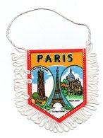 Paris France  - Fanion écussons Touristique En Tissu Satiné - Ecussons Tissu
