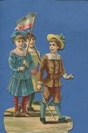 Chromos Découpis Enfants Patriotisme Drapeau Français  épée 16 Cm - Enfants