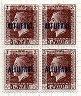 OCEANIE - AITUTAKI - (Dépendance Néo-Zélandaise) - 1918-19 - Bloc De 4 Du N° 19 - 3  P. Brun Foncé - (Nelle Zélande) - Aitutaki