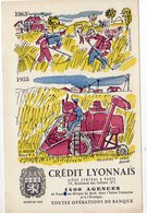 Dec18      83210    Buvard   Crédit Lyonnais   Signé Hervé Baille   Battage Du Blé - Banque & Assurance