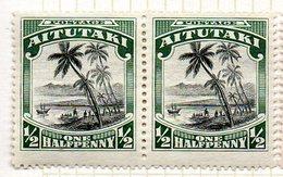 OCEANIE - AITUTAKI - (Dépendance Néo-Zélandaise) - 1920 - Paire Du N° 23 - (Débarquement Du Capitaine Cook) - Aitutaki
