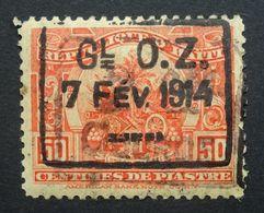 Haiti 1914  Surcharge GI OZ 1 CENT DE PIASTRE 7 FEV 1c On 50c Used. - Haiti