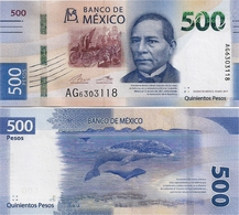 MEXICO        500 Pesos       P-New       19.5.2017 (2018)       UNC  [sign. Del Cueto] - Mexico
