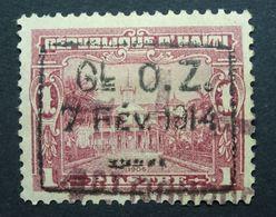 Haiti 1914 1914 Surcharge GI OZ 1 CENT DE PIASTRE 7 FEV 1914 1c On 1p Used. - Haïti