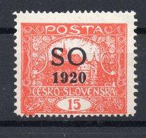 CZECHOSLOVAKIA  SO 1920 , MNH,  PERFORATION  13 3/4 : 11  1/2 - Tchécoslovaquie