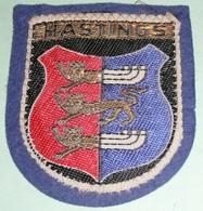 Rare écusson En Feutre/feutrine Et Tissu, Patch, Hastings, Armoiries, Royaume Uni - Ecussons Tissu