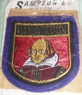 Rare écusson En Feutre/feutrine Et Tissu, Patch, Stratford Upon Avon, Shakespeare, Royaume Uni - Ecussons Tissu