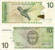 NETHERLANDS ANTILLES      10 Gulden       P-28[h]       1.8.2016      UNC - Antille Olandesi (...-1986)
