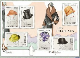 France 2018 - Yv N° F5277 ** - Bloc-feuillet «Les Chapeaux»  (timbres 5277 à 5282) - France