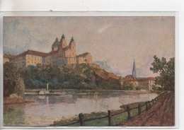 Cpa.Autriche.Melk.litho De Fritz Lach.1925.Benediktinerstif - Melk