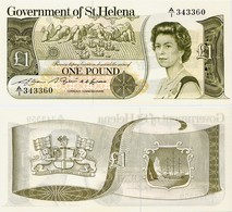 SAINT HELENA        1 Pound        P-9a       ND (1981)         UNC - Sainte-Hélène